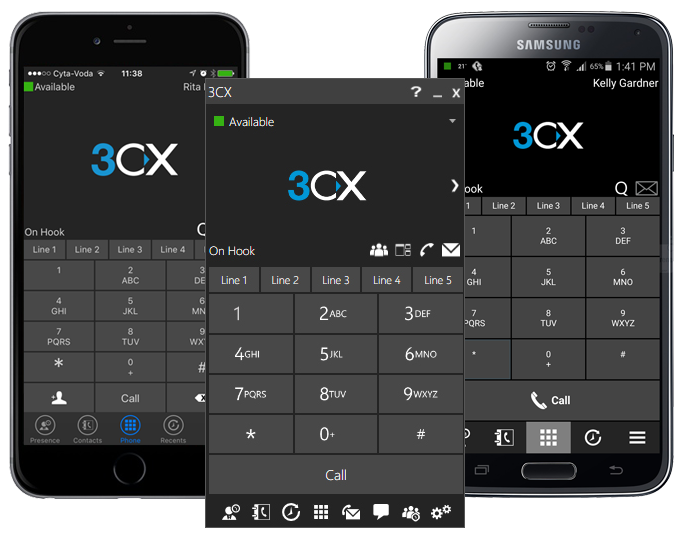 3CX Softphone für Windows, Mac und Mobile
