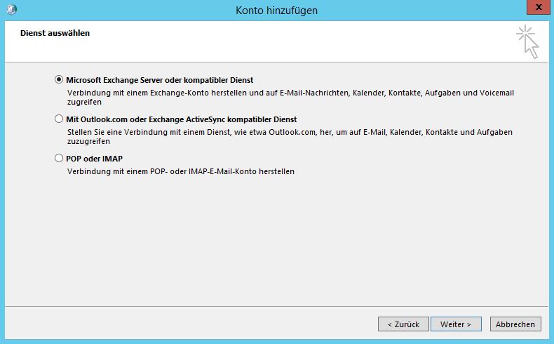 Outlook 2013 (und älter) manuell einrichten