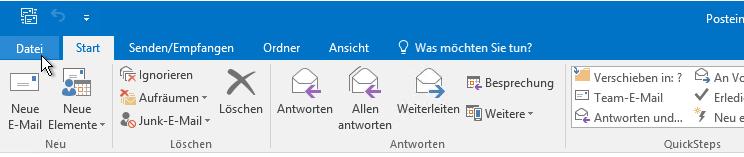 Registerkarte Datei