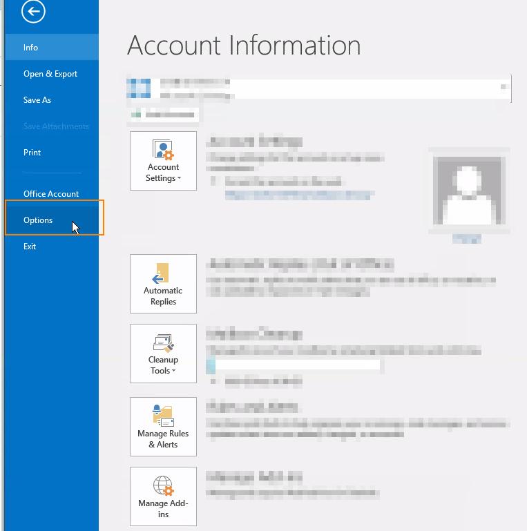 Signatur erstellen/übernehmen – Outlook 2016