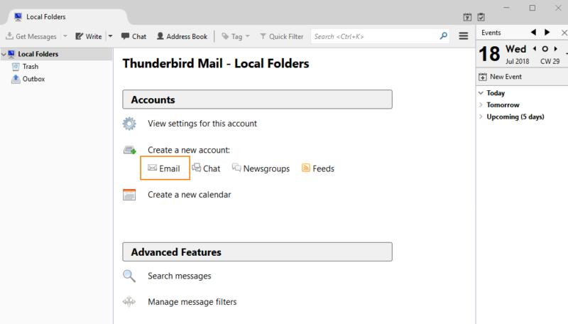 Thunderbird Konfiguration