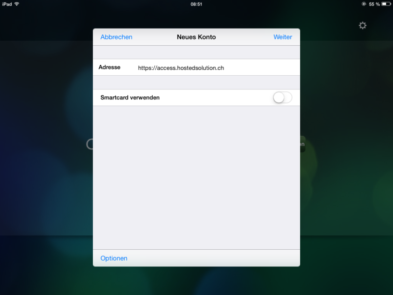 Zugriff mit iPad