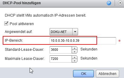 Konfiguration des DHCP Servers
