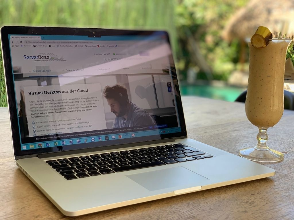When working during the holidays, fast and convenient access to the data is a great added value. Stefan shows how easy this works directly from Bali