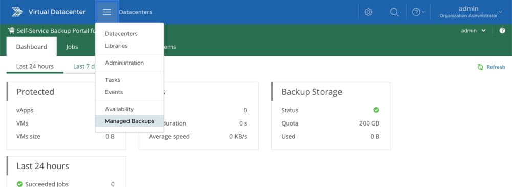 Integration des Veeam Self-Service Backup Portals