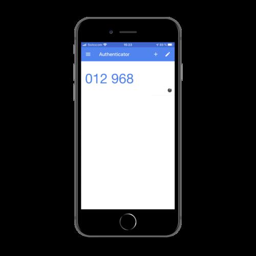 Die Google Authenticator App zur Generierung des nur wenige Sekunden gültigen One-Time-Passwords
