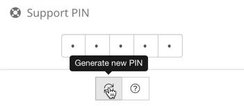 Neue Support-PIN generieren