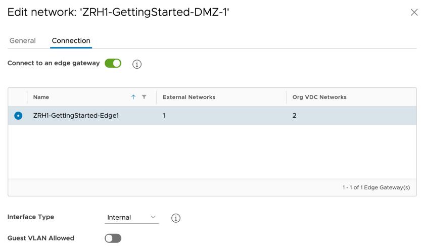 VMware Cloud Director 10.1: Sie können bestehende OrgVDC Netzwerke vom Edge Gateway trennen und wieder verbinden. Bisher musste dafür das ganze Netzwerk gelöscht werden.