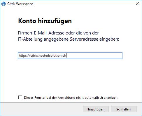 Zugriff mit Citrix Workspace mit Zweifaktorauthentisierung (Windows)