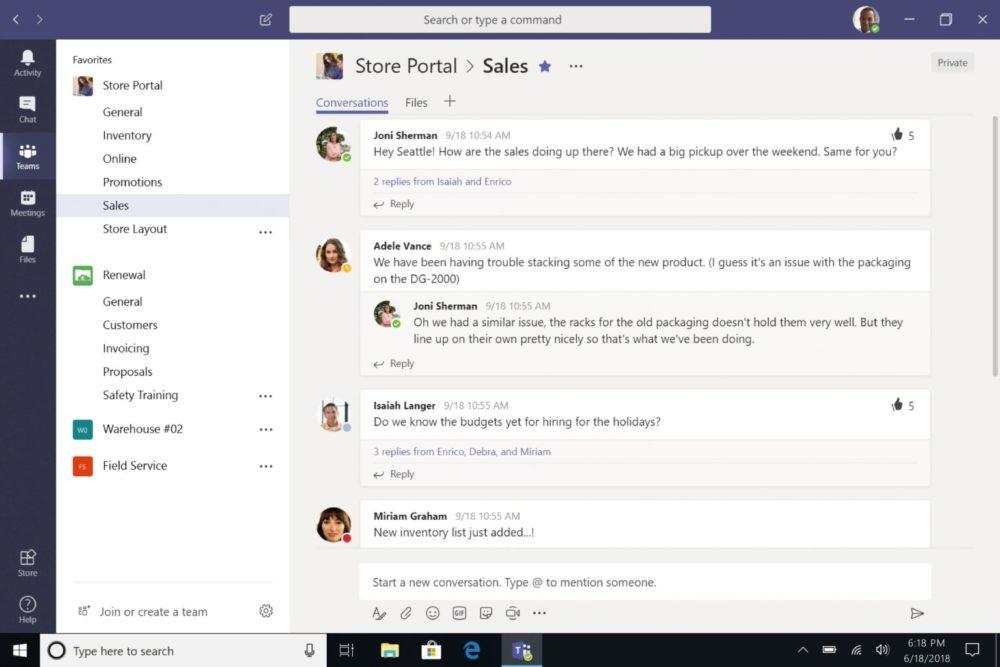 Zusammenarbeit mit Microsoft Teams